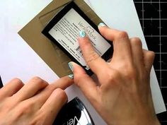 3 Cards using Versamark and LSG Magical Micas - YouTube