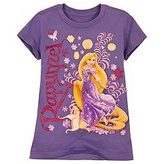 Pink Glitter Rapunzel Tee for Girls