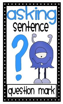 These monster themed posters can be hung in your classroom to reinforce punctuation and parts of speech....