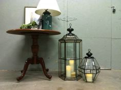 ceiling light fixtures turned into lanterns! Upcycle repurpose