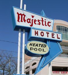 Majestic Hotel Sign Ocean City Maryland by whflood, via Flickr