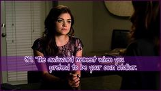 """This made me laugh... I thought it was funny that she was so calm when telling Hanna's mom she was """"A"""""""