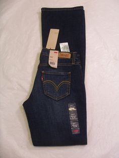 Juniors Levis Jean 524 Bootcut Too Super low Ultra Low Rise Size 0 up to 17 #Levis524Jeans #BootCut