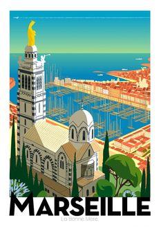 #Марсилия #Франция #Marseille #France #Travel #Posters #Пътуване #Постери #eSky