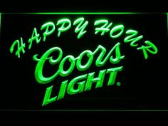 Coors Light Happy Hour LED Neon Sign