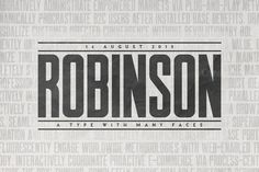 Inspired by vintage newspaper titles, display typeface Robinson is great for posters and more