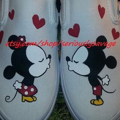 SALE Kissing Mickey Minnie Mouse Custom from seriouslysavage on