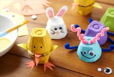 Celebrate springtime with these 3 adorable repurposed egg carton crafts. For more repurposed crafts, visit P&G everyday today!