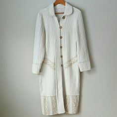Natural Knit Long Button-Up Cardigan -Bought in Europe  -Handcrafted naturally  -Heavy-weight material  -Worn only once! ⭐HP 2/28/16 Weekend Wardrobe⭐ Sweaters Cardigans