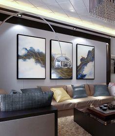 Hallway Wall Decor, Canvas Wall Decor, Bedroom Wall, Cheap Paintings, Home Decor Paintings, Living Room Pictures, Wall Art Pictures, Bed In Living Room, Acrylic Canvas