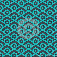 Seamless abstract retro pattern from geometric hexagonal shapes in blue colors. Suitable for web, print, wallpaper, gift wrapping, home decor, fashion, invitation background, textile design. Layered EPS8 vector file for easy manipulation and coloring.