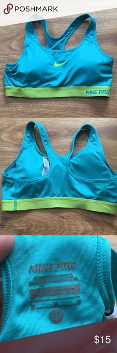 Nike Pro Sports Bra Nike Pro dri-fit sports bra size medium. Has padding in tact. Perfect condition I only wore this twice and it's just too big for me. Nike Intimates & Sleepwear Bras