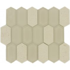 French Vanilla Hexagon Cream Glossy & Frosted Glass & Stone Tile
