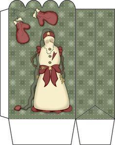 BOITE POUR NOEL Printable Box, Paper Dolls Printable, Kirigami, Christmas Bags, Christmas Crafts, Free Boxes, Xmas Party, Diy Box, Little Boxes