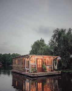 These Tiny Floating Homes Double as Art Studios on domino.com