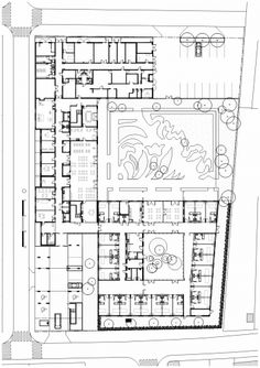 Gallery of Monconseil Retirement Home / Atelier Zundel & Cristea - 11 Hospital Architecture, Plans Architecture, Student Dormitory, Assisted Living Facility, Community Housing, Elderly Home, Healthcare Design, Senior Living, Home Design Plans