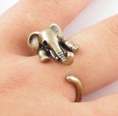 Elephant Adjustable Wrap Ring