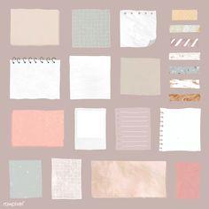Blank reminder paper notes vector set | premium image by rawpixel.com / sasi