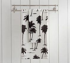 Palm Tree Organic Bath Towels #potterybarn