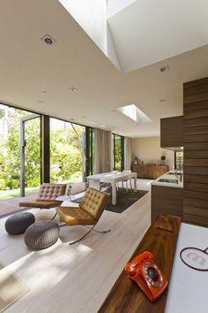 Flooring is sooo nice! Wow --:) Scandinavian Home Design in Santa Monica by Jendretzki - Design Milk Interior Exterior, Interior Architecture, Exterior Design, Santa Monica, Home Design, Home Interior Design, Design Ideas, Interior Ideas, Pretty Things