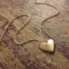 14K Gold Heart Necklace Wife Gift Girlfriend Gift 14K Gold Necklaces Heart Pendant Heart Jewelry Womens Valentine's Day Gift Women Teen Girl