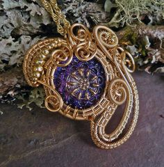 Gothic Steampunk Victorian Button Pendant in by twistedsisterarts, $44.95