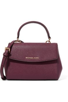 Plum textured-leather (Cow) Snap-fastening front flap Weighs approximately 1.1lbs/ 0.5kg Imported