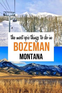 The Most Epic Things to do in Bozeman Montana.  What to do in Bozeman Montana. There are so many fun things to do in Bozeman: tons of hiking trails, a trip to Yellowstone, a soak in natural hot springs and so much more! | Bozeman activities | Bozeman travel | Montana itinerary | Montana Travel | #montana