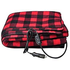 Sports Imports 12v Fleece Heated Electric Travel Blanket Home Kitchen