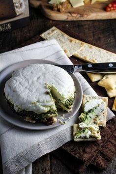 terrina de queijo de cabra com doce de figo e pesto