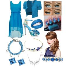 """Fancy Blue"" by ecargnagrom on Polyvore"