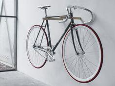 Interior Bike Hanger Home Design Two Wooden With Hooks In Wall Indoor Bike Storage Modern Design By Home Bike Storage Ideas Wall In White Colour Pane With Black Colour Of Iron Frame Ceramic Floor Laminate Minimalist Brilliant Garage Storage