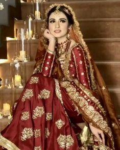 Asian Bridal Dresses, Wedding Dresses For Girls, Pakistani Wedding Dresses, Pakistani Dress Design, Bridal Outfits, Indian Dresses, Pakistani Bridal Lehenga, Pakistani Outfits, Bridal Wedding Dresses