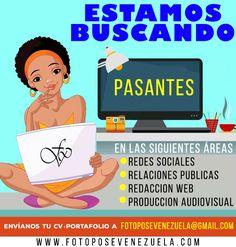 Nos encontramos en la búsqueda  de los nuevos miembros del #TeamFPV . Requisitos: Tener una carrera afín con las áreas que se mencionan en la imagen .  La moda y tendencias del mundo de la belleza son temas realmente apasionantes para ti .  Conoces el valor y la importancia de las redes sociales en la actualidad y quieres saber todo sobre Social Media . Quieres aprender todo lo que tenemos para enseñar.   Buscas unas pasantías 50% Freelance y 50% Presencial.  Sigues a Foto Pose Venezuela…