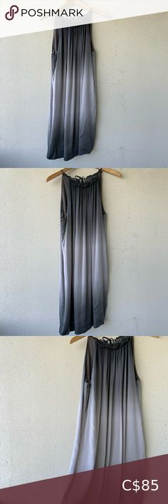 Vince silk dress Vince beautiful silk dress with beautiful gradations of grey. So elegant and classic. Drapes beautifully. Fully lined. 98% silk, 2% spandex. Fabric has a few little pulls here and there that I try to show in photos. Nothing significant or noticeable, in my opinion, but the fabric is so delicate that it's easy to get little snags. Vince Dresses Linen Tunic Dress, Silk Dress, Blue Long Sleeve Dress, Cashmere Dress, Ribbed Knit Dress, Dress Size Chart Women, Spandex Fabric, Delicate, Elegant