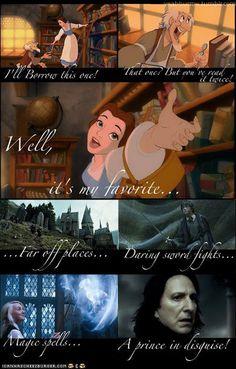 Belle is a Potterhead.  http://wishuponalol.cheezburger.com/5680446976