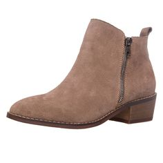 9a424b8e29e SheSole Women s Suede Ankle Boots Low Heels Short Camel Black Booties --  Thanks a lot