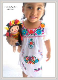 Sarita étnico mexicano bordado vestido del bebé por elizabethpalmer, $45.00