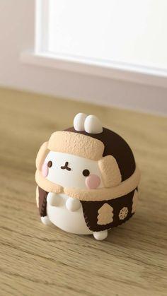 Cute Polymer Clay, Cute Clay, Polymer Clay Crafts, Diy Clay, Kawaii Wallpaper, Wallpaper Iphone Cute, Cutest Bunny Ever, Molang, Cute Toys