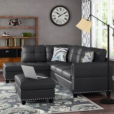 Charlton Home® Rea 3 Piece Dining Set & Reviews | Wayfair 3 Piece Coffee Table Set, 3 Piece Dining Set, Contemporary Dining Sets, Faux Leather Sofa, Breakfast Nook Dining Set, Corner Sectional, Sectional Sofas, Couches, Solid Wood Dining Set