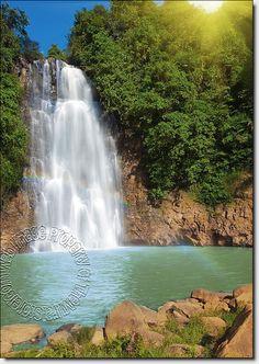 Rainbow Waterfall Mural