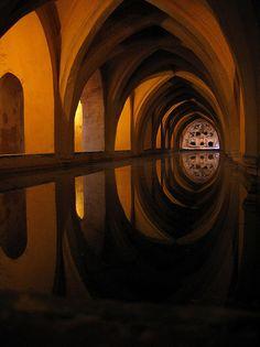 Alcázar Baths :: Reflection with Spanish Vaulting-Mystical