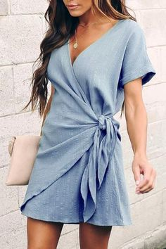 Wrap dress short - Lifetime of Love Wrap Mini Dress 6 Colors – Wrap dress short Wrap Dress Short, Dresses Short, Women's Dresses, Cute Dresses, Dress Outfits, Dresses For Work, Fashion Outfits, Summer Dresses, Formal Dresses