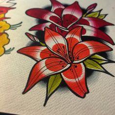 Dneska vyucba z botanickeho sektoru #tyyvoe#lily#flower#study#traditional#neotraditional#tattoo#design#ink#slovakia#bratislava#vancity#vancouver#art#painting#work#flash#color http://misstagram.com/ipost/1562498669029585981/?code=BWvHELRh3Q9