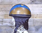 Vintage Motorcycle Helmet, Vintage Motorcycle Crash Helmet, Motorcycle Racing Helmet