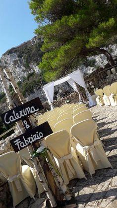 Allestimenti esterni matrimonio rito civile Gibò Luxury Club & Weddings
