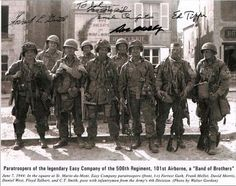 Band of Brothers: Easy Company, Battalion, Parachute Infantry Regiment, Airborne Division, United States Army 101st Airborne Division, Band Of Brothers, Paratrooper, D Day, Military History, World War Ii, American History, Wwii, The Past