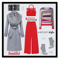 """""""Aiport style"""" by zabead ❤ liked on Polyvore featuring Kenzo, STELLA McCARTNEY, Casadei, Sentaler, Versace, Phenix and airportstyle"""