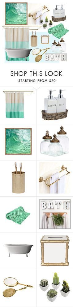 """Bath"" by soy-sony-gg on Polyvore featuring interior, interiors, interior design, hogar, home decor, interior decorating, Quiet Town, Pigeon & Poodle, John Elliott y Dana Gibson"