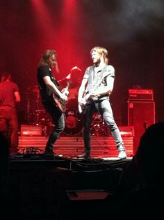 Andrew and Josiah having a guitar battle, lol.
